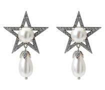 Ohrclip mit Stern-Motiv und Kristallen