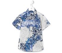 Seidenhemd mit barockem Print - kids - Seide