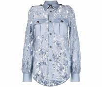 Semi-transparente Bluse aus Spitze