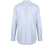 Popeline-Hemd mit Eton-Kragen