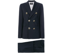 button-embellished suit