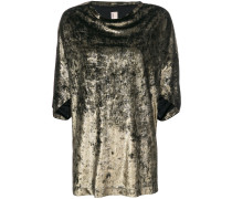 T-Shirt mit Metallic-Effekt