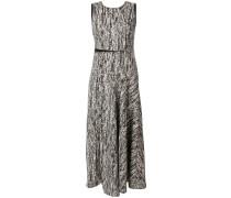 Texturiertes Kleid mit Rundhalsausschnitt