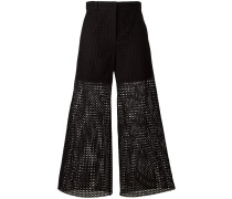 Hose mit Lochstickerei - women - Baumwolle - 44