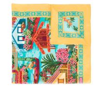 'Tropical Village' Seidenschal - women - Seide