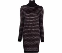Intarsien-Kleid mit Rollkragen