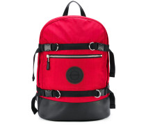 multiple buckle backpack