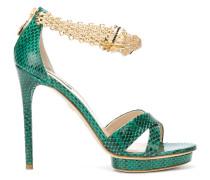 panther jewel anklet platform sandals