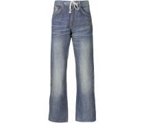 Bootcut-Jeans mit Schnürung