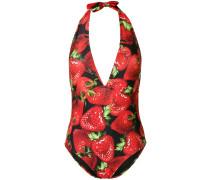 Badeanzug mit Erdbeere-Print