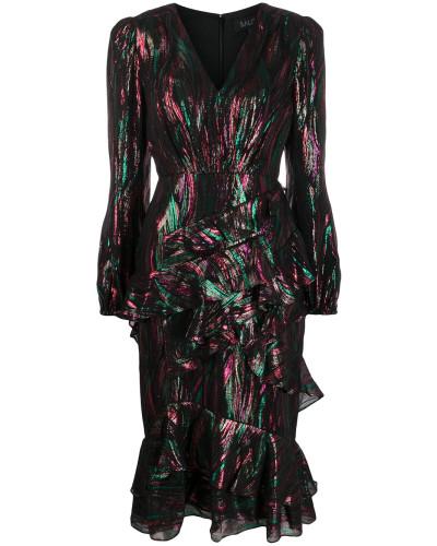 Metallic-Kleid mit Rüschen