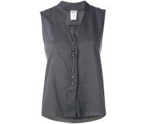V neck button up top - women - Baumwolle - 3