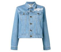 Jeansjacke mit Logo-Patch