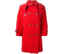Zweireihiger Mantel mit Kapuze