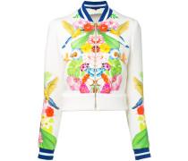 - tropical print bomber jacket - women