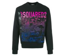 Sweatshirt mit Berg-Print