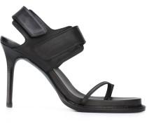 Stiletto-Sandalen mit Klettverschlüssen