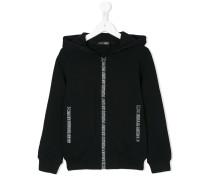 logo zipfront hoodie