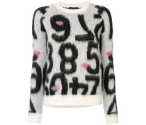 Pullover mit Zahlen-Motiven