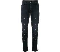 star embellished jeans