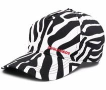 Baseballkappe mit Zebra-Print