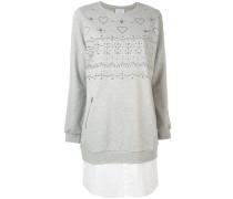Sweatshirtkleid mit Nieten - women