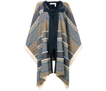 patchwork poncho cape