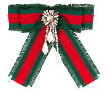 embellished web ribbon brooch