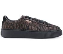 'Basket' Sneakers mit breiter Sohle