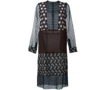 Gemustertes Kleid mit Patchwork-Design