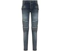 ribbed slim-fit jeans