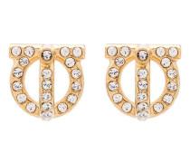 Goldfarbene 'Gancini' Ohrringe mit Kristallen