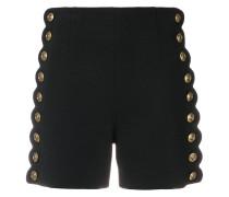 buttoned high waist shorts