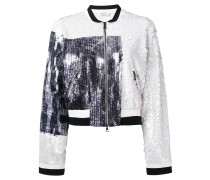 - embroidered bomber jacket - women
