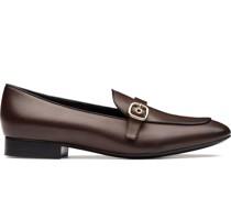 'Blanche' Loafer mit Schnallen