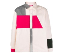 Hemdjacke in Colour-Block-Optik
