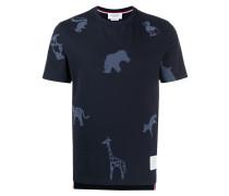 T-Shirt mit Tier-Print