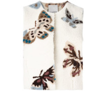 Cropped-Weste mit Schmetterlingsmuster