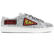 glittered logo patch sneakers