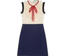 Silk wool contrast dress - women - Seide/Wolle