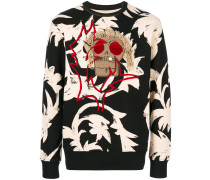 skull patch and graphic print jumper