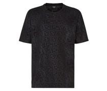 T-Shirt mit Monogrammmuster
