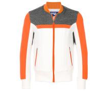 contrast panel zip jacket