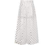 wide leg polka dot trousers