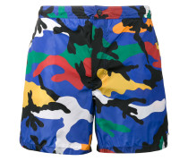 camouflage print swim shorts - men