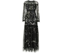 sequin-embellished tiered dress