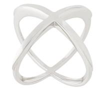 Überkreuzter Ring aus Sterlingsilber