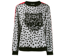Gepunktetes Sweatshirt mit Tiger
