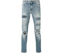 Gerade Destroyed-Jeans