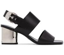 Sandalen mit verspiegeltem Absatz, 70mm